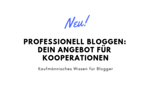 Professionell Bloggen – dein Angebot für Kooperationspartner