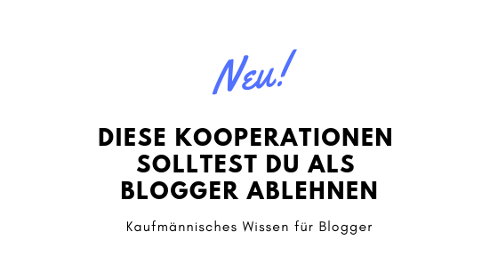 Diese Kooperationen solltest du als Blogger ablehnen